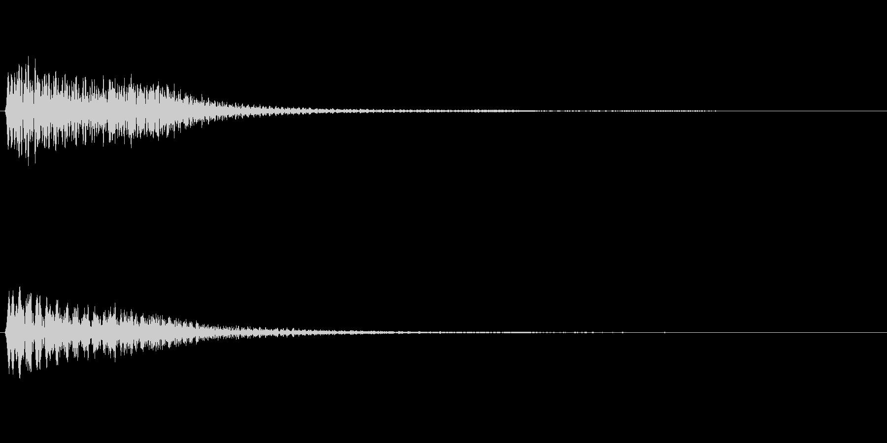 ハープの上昇フレーズ(豪華な場面転換)の未再生の波形