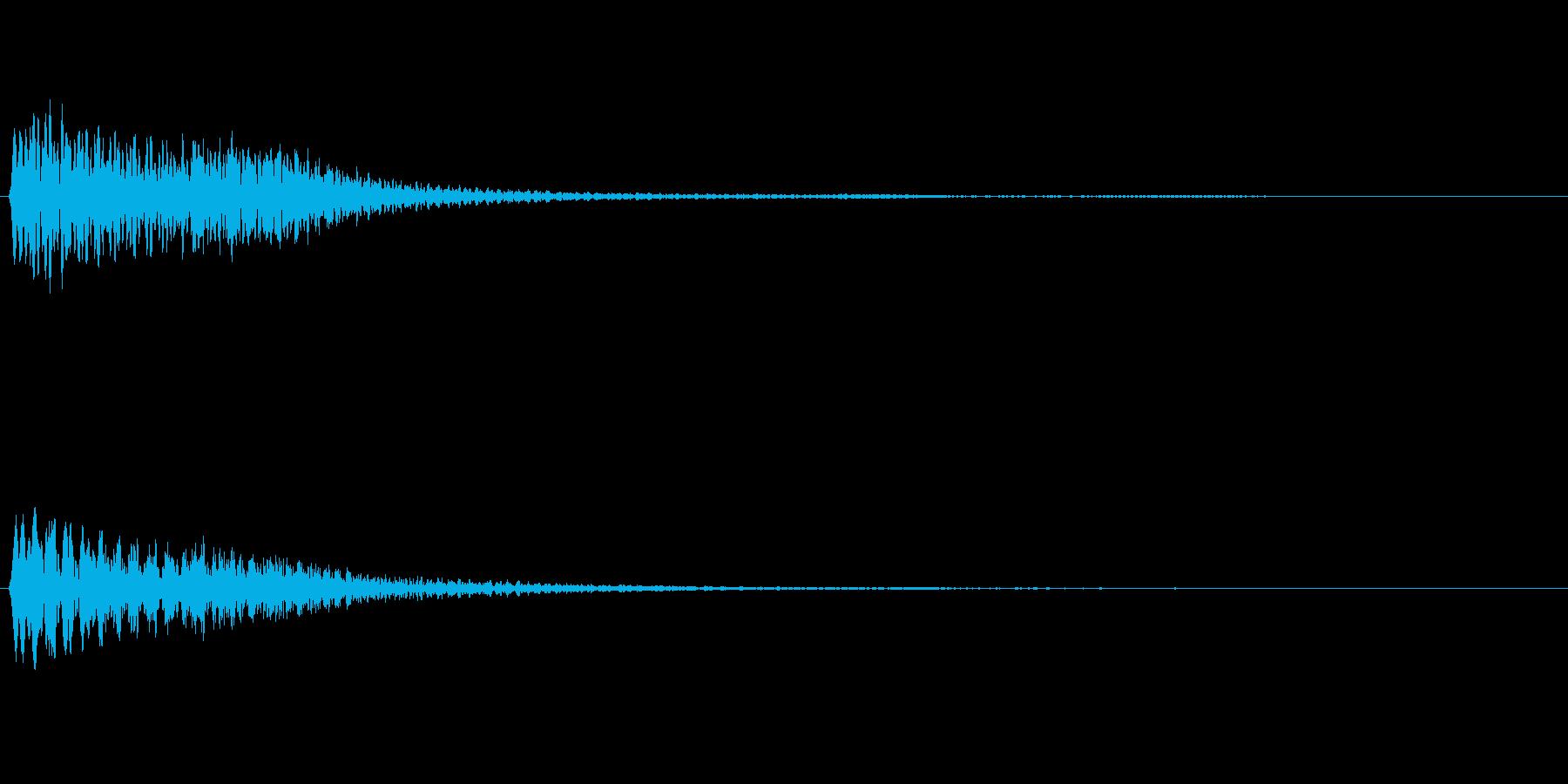 ハープの上昇フレーズ(豪華な場面転換)の再生済みの波形