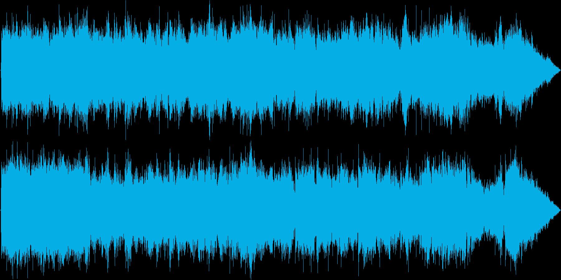 ロック風の熱い戦闘BGMの再生済みの波形