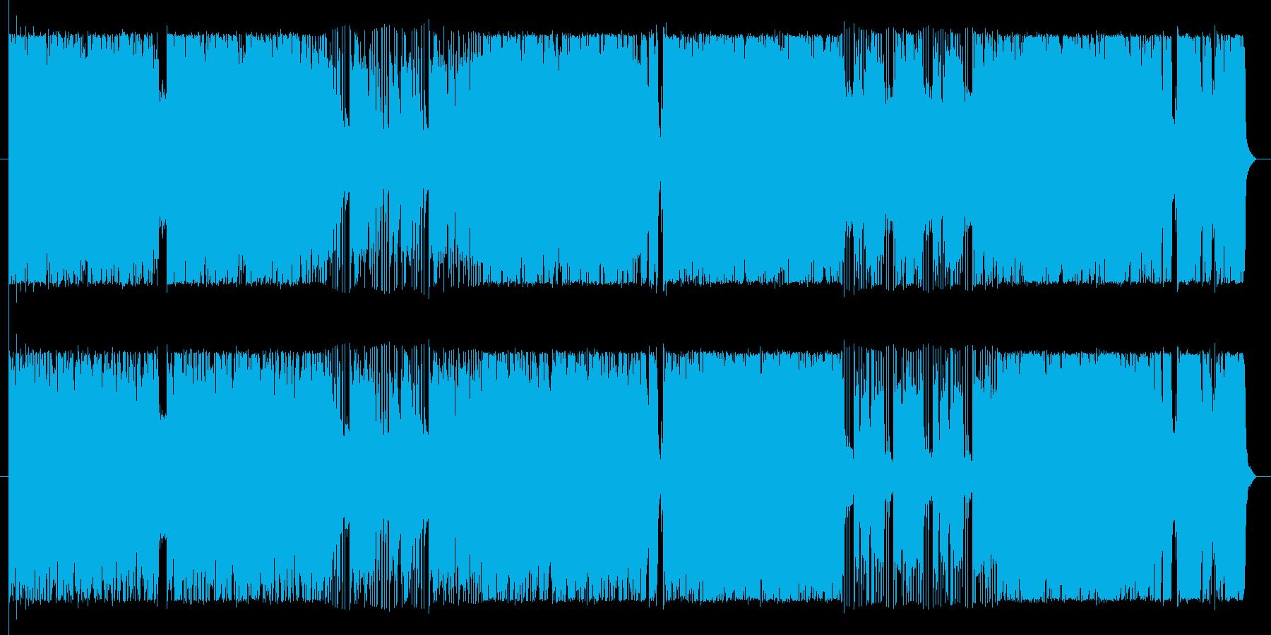 ダークかつワルい雰囲気のへヴィロックの再生済みの波形