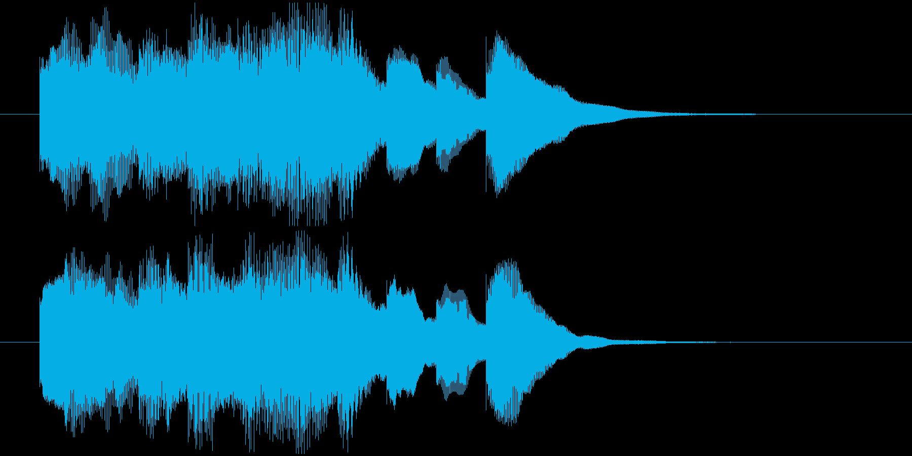 場面転換などに。可愛らしいジングルその2の再生済みの波形