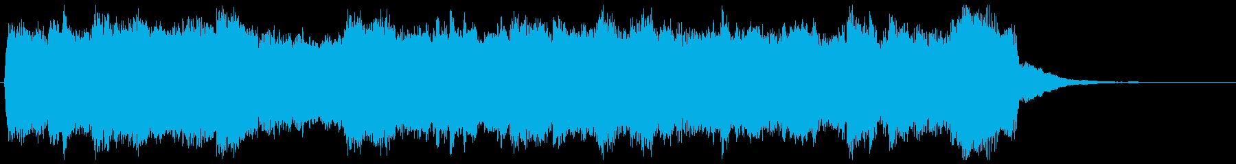 短調の旋律が美しいパイプオルガンの再生済みの波形