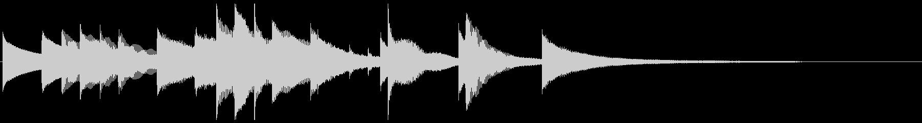 お茶目なオルゴールのキュートなジングルの未再生の波形