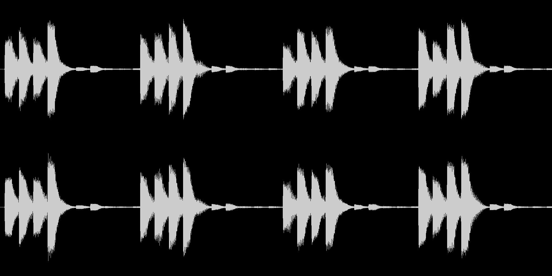 ピピピピッ(繰り返し)の未再生の波形