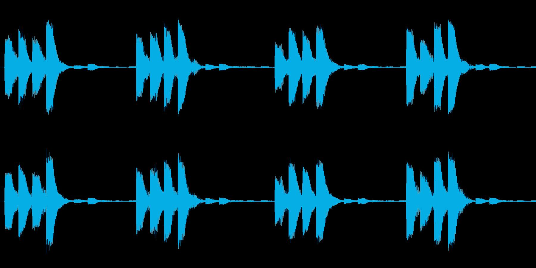 ピピピピッ(繰り返し)の再生済みの波形