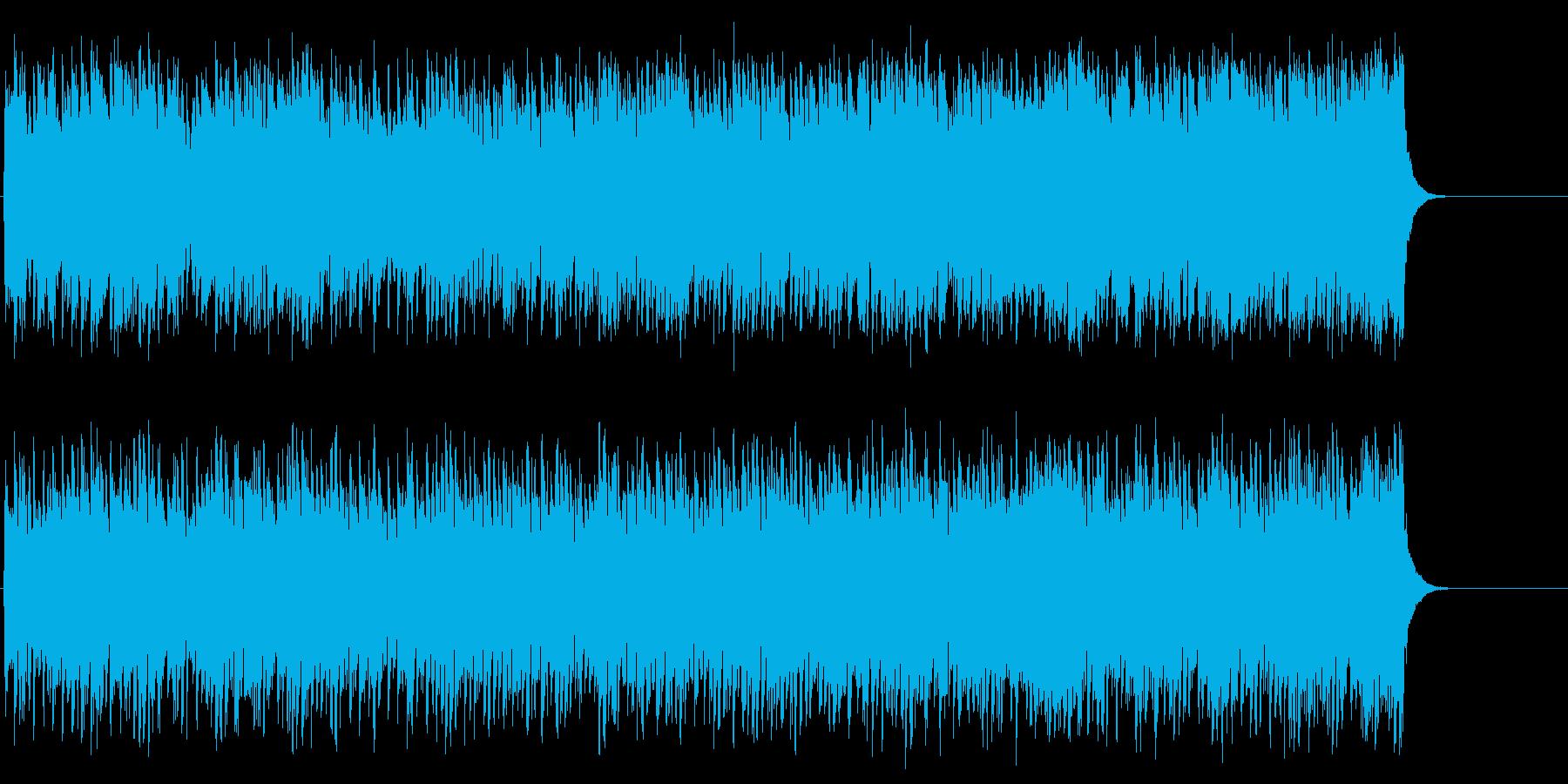 元気のいいリズミカルな8ビート・ポップの再生済みの波形