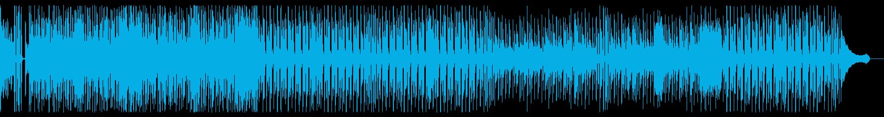 明るく跳ねるような、わくわくする曲の再生済みの波形