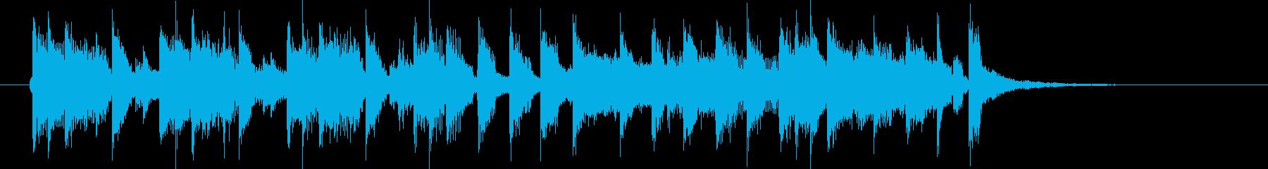 元気でキャッチ―なシンセポップジングルの再生済みの波形