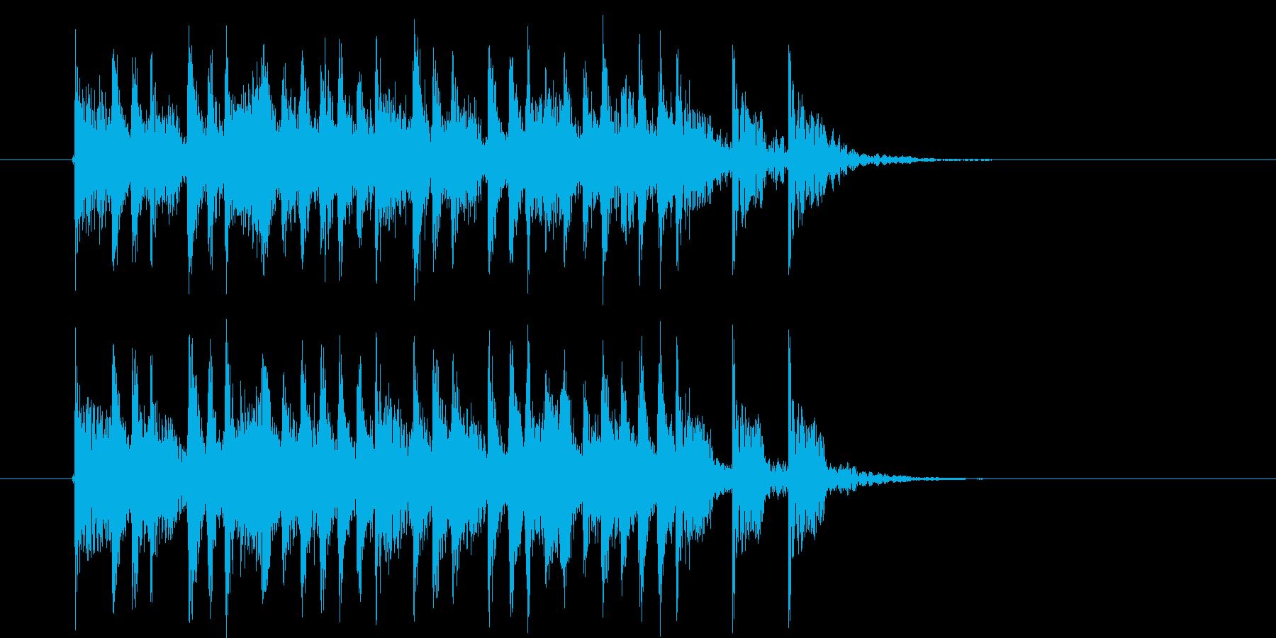 リズムが良く躍動感のあるBGMの再生済みの波形