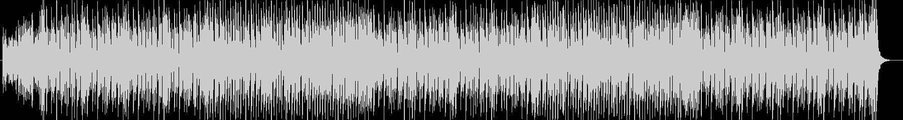 アップテンポなシンセサイザーのポップな曲の未再生の波形