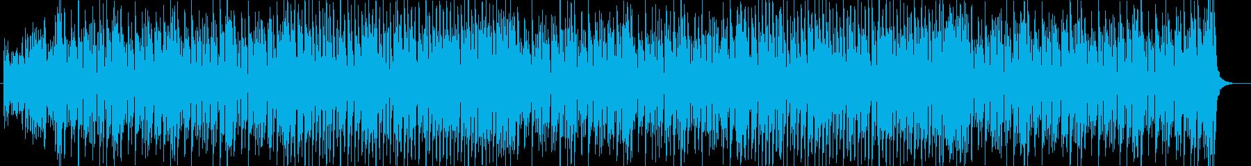 アップテンポなシンセサイザーのポップな曲の再生済みの波形