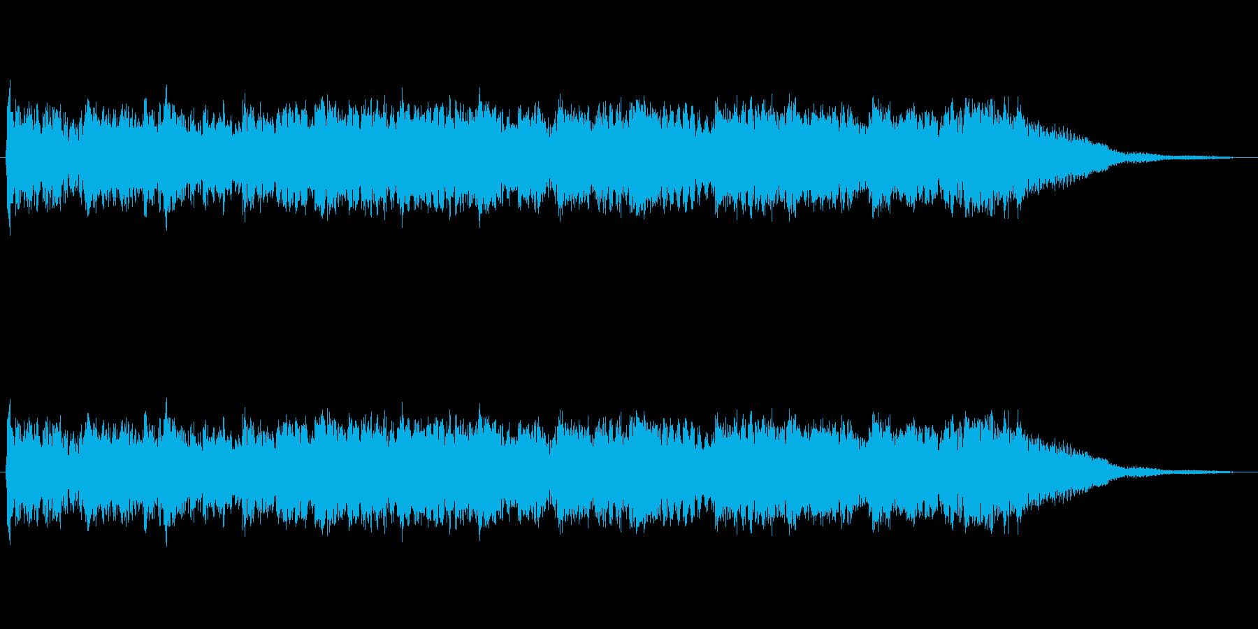 重く暗い雰囲気の曲の再生済みの波形