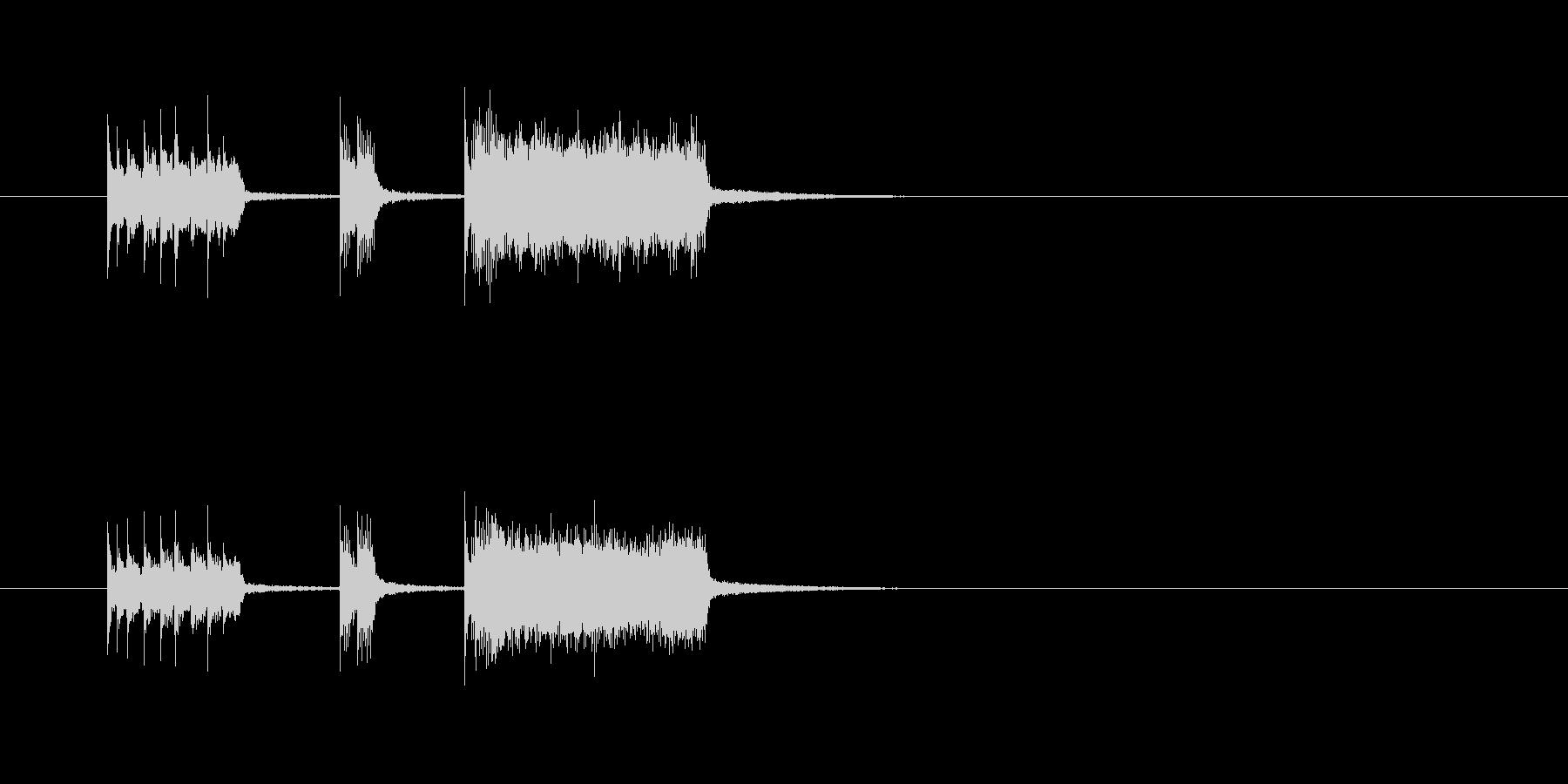 コミカル 華やか シンセサイザー 明るいの未再生の波形