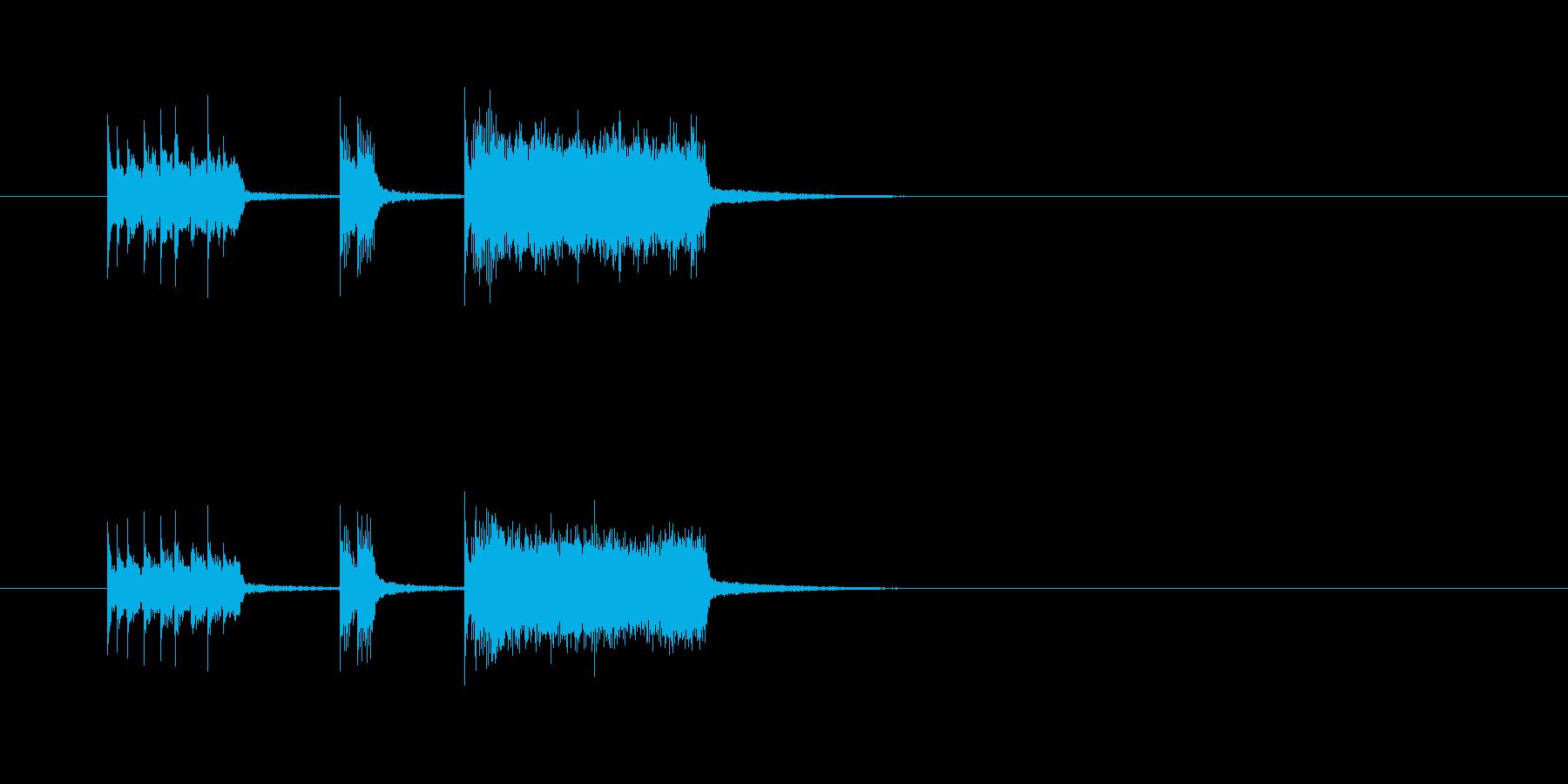 コミカル 華やか シンセサイザー 明るいの再生済みの波形