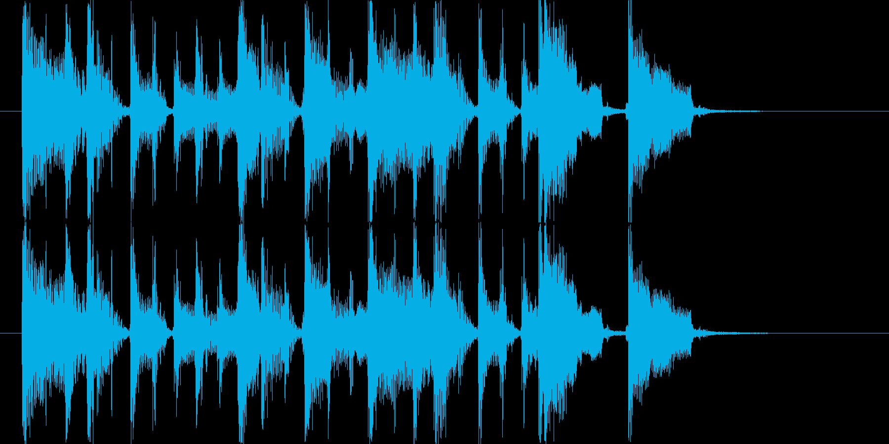 ギターカッティングが軽快なポップジングルの再生済みの波形