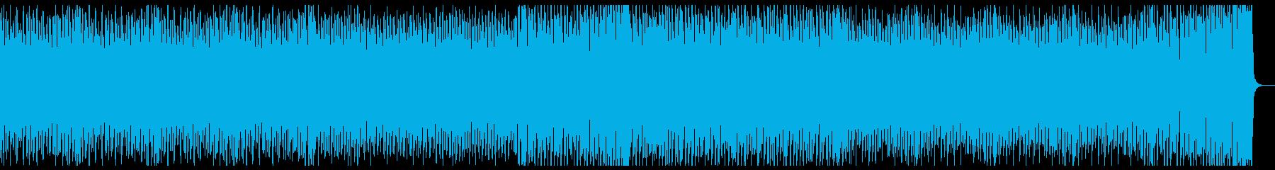 疾走感のある4つ打ち曲の再生済みの波形