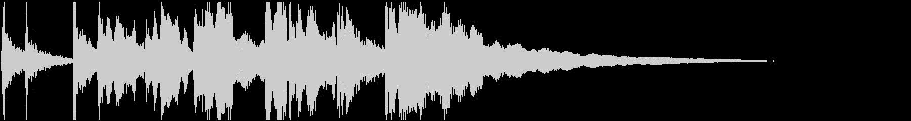 和風、笛と太鼓の囃子風ジングル2の未再生の波形