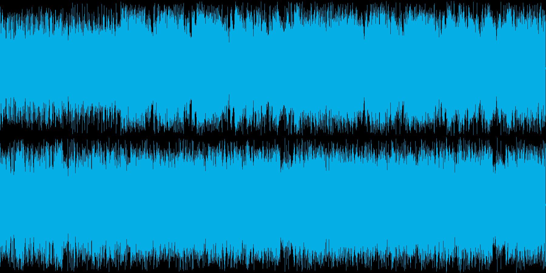 荒々しいギターがメインのBGMの再生済みの波形