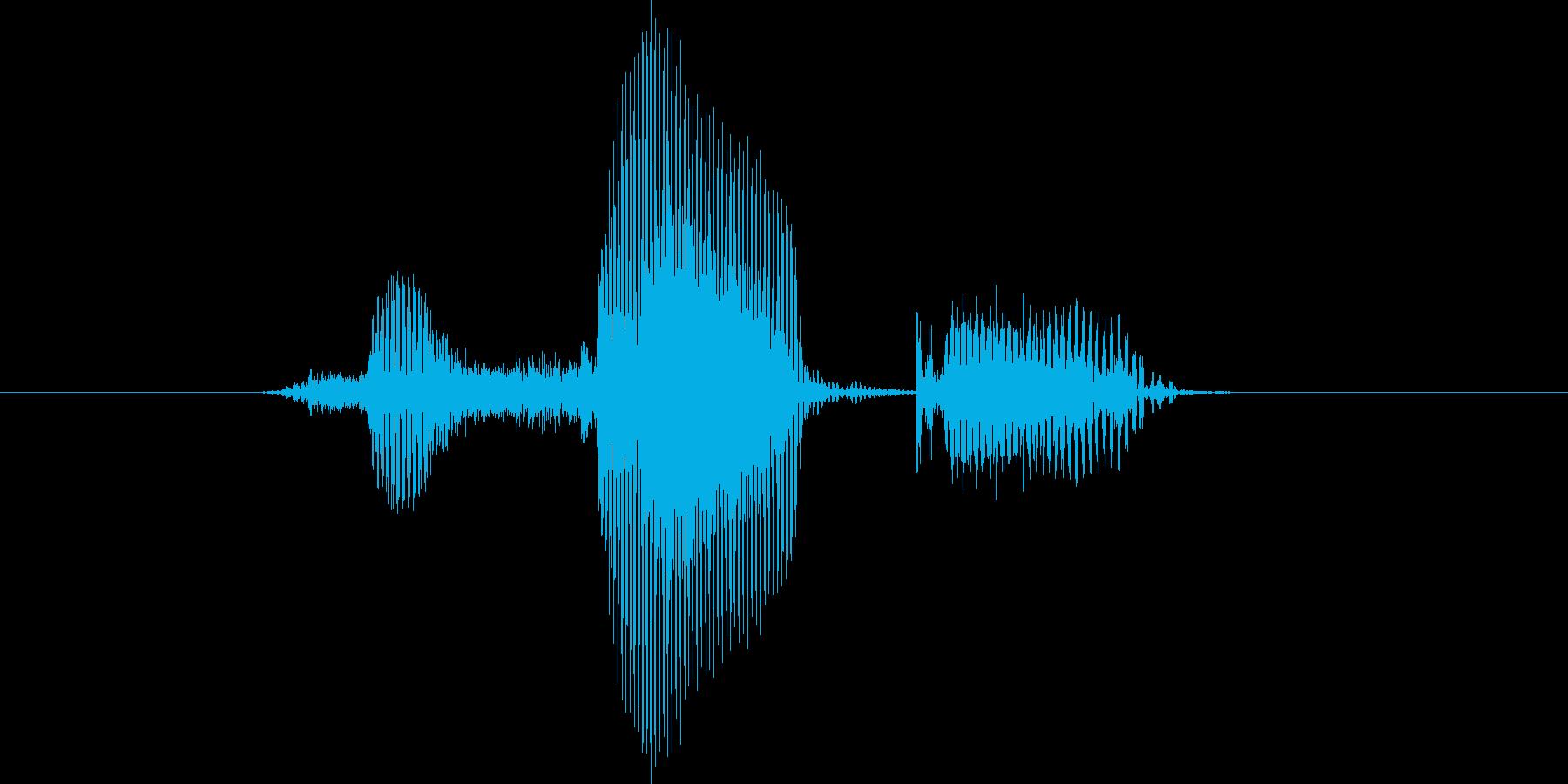 不正解の再生済みの波形