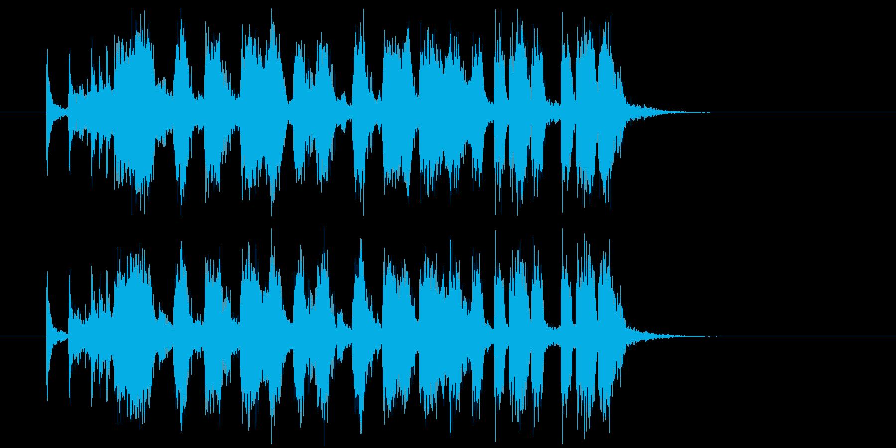 爽快でおしゃれなシンセサウンド短めの再生済みの波形