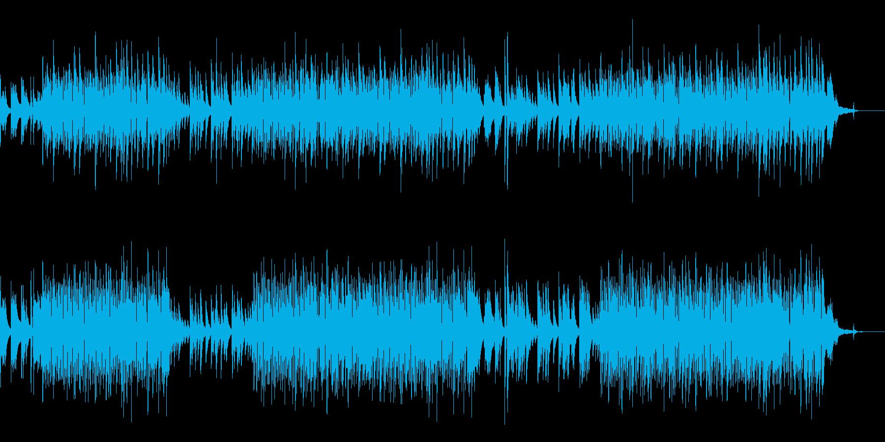 ゆったりアコースティックなボサノバの再生済みの波形