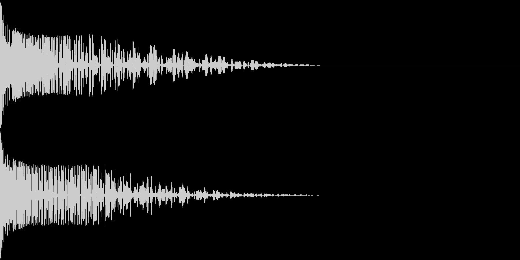 Henteko 可愛いクラッシュ音 8の未再生の波形