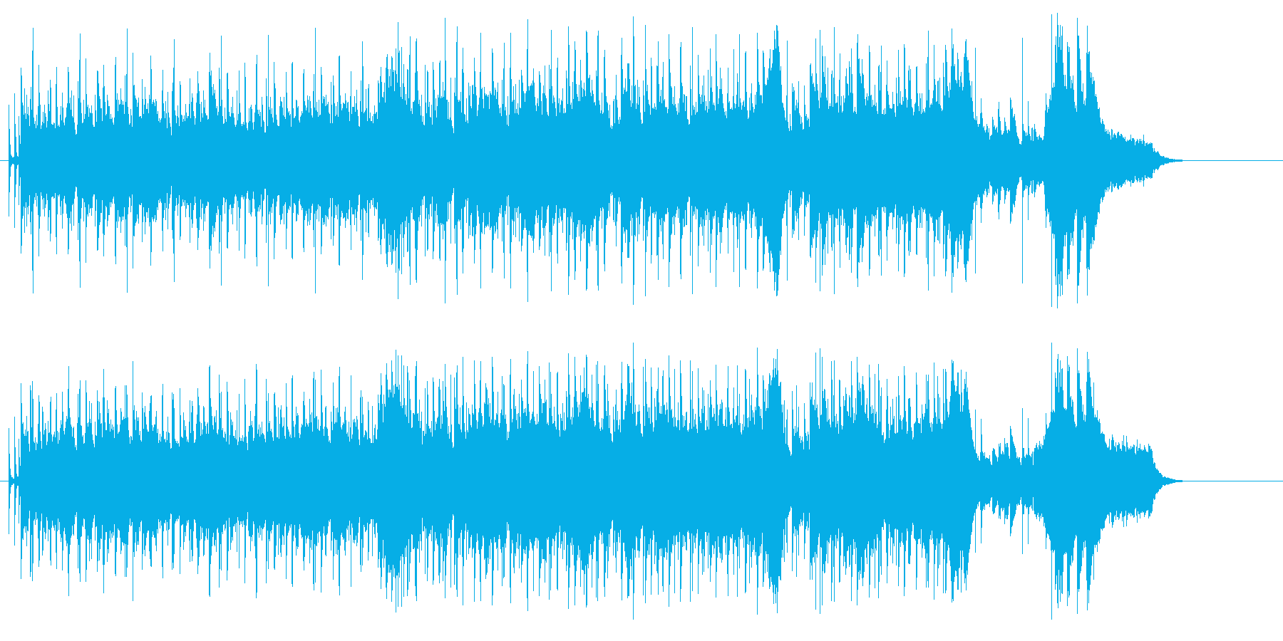 ショッピング、ティータイムB.G.M.の再生済みの波形