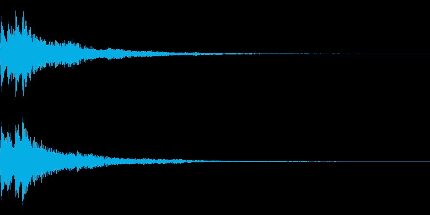 キラキラ キランなアタック音5の再生済みの波形