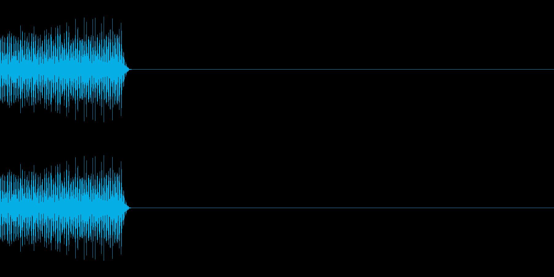 ピロッ_PC、電子的なキー音_02の再生済みの波形