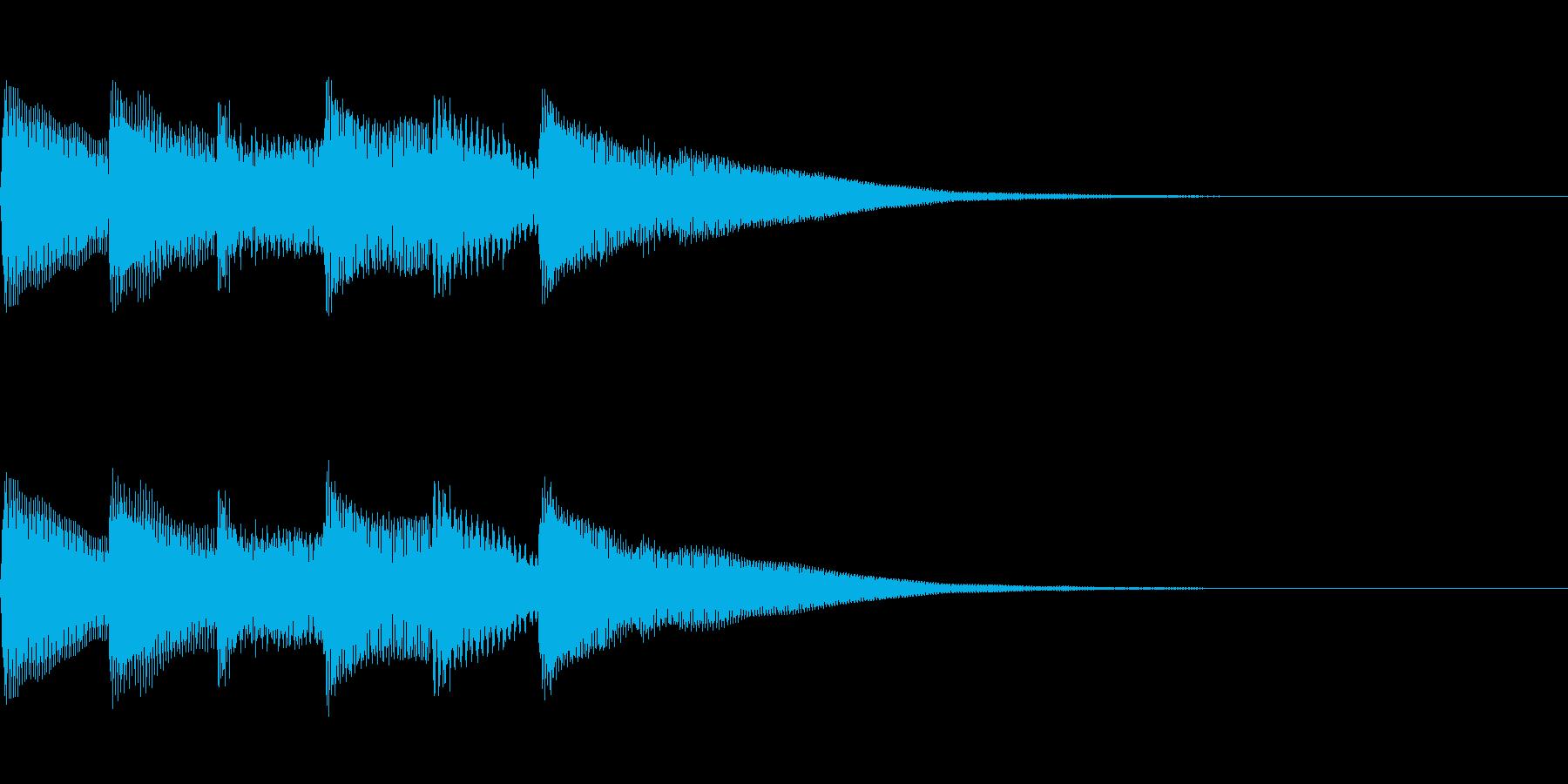 正解 2A 明るい音色 ピポピポピポーンの再生済みの波形