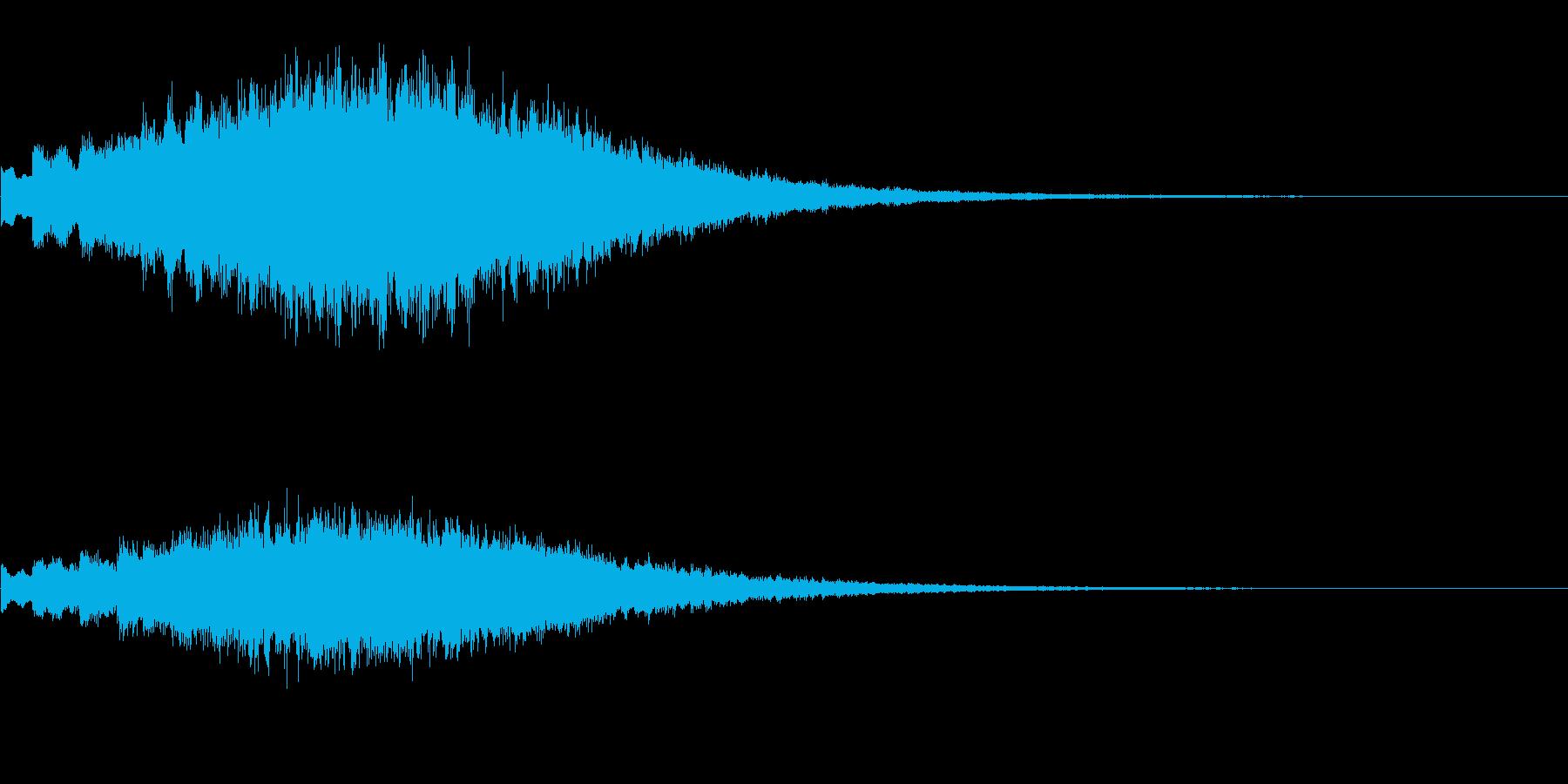 キラキラッ…(上昇/変身/場面転換)の再生済みの波形