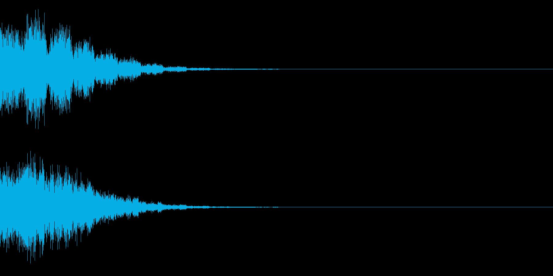 ビュンンの再生済みの波形