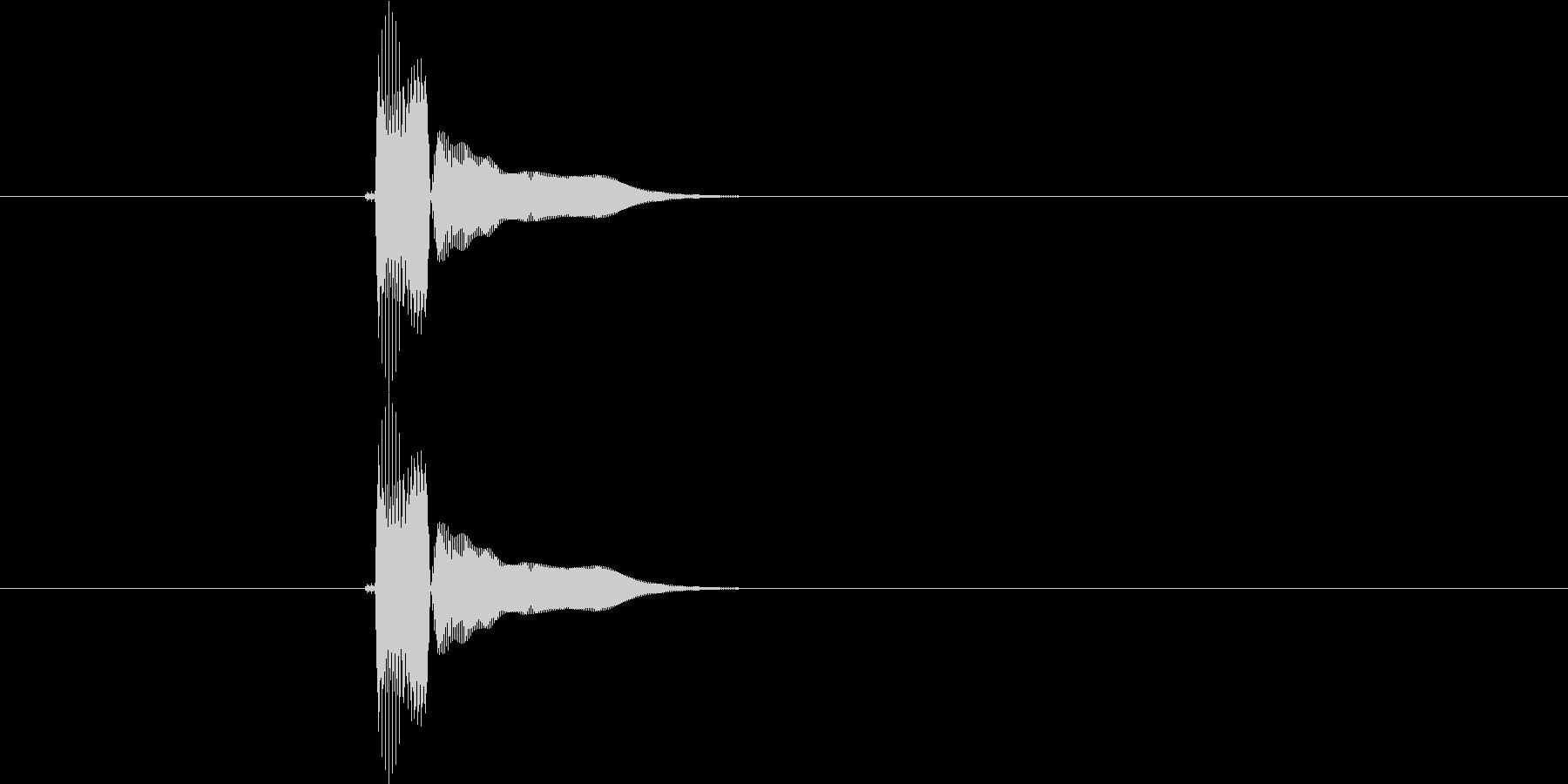 にょん(テクノっぽい決定音)の未再生の波形