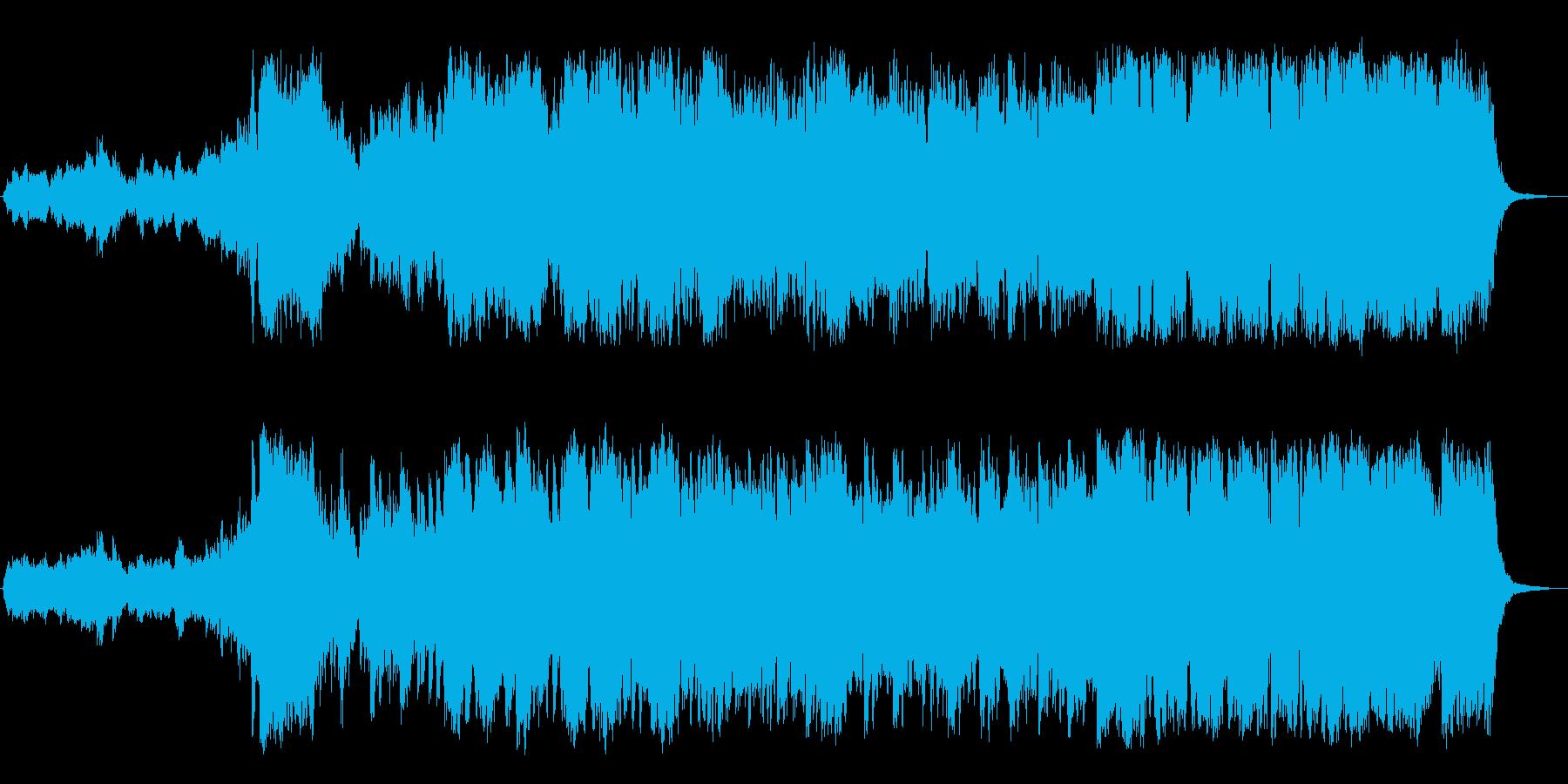 冒険ファンタジー向きオーケストラサウンドの再生済みの波形