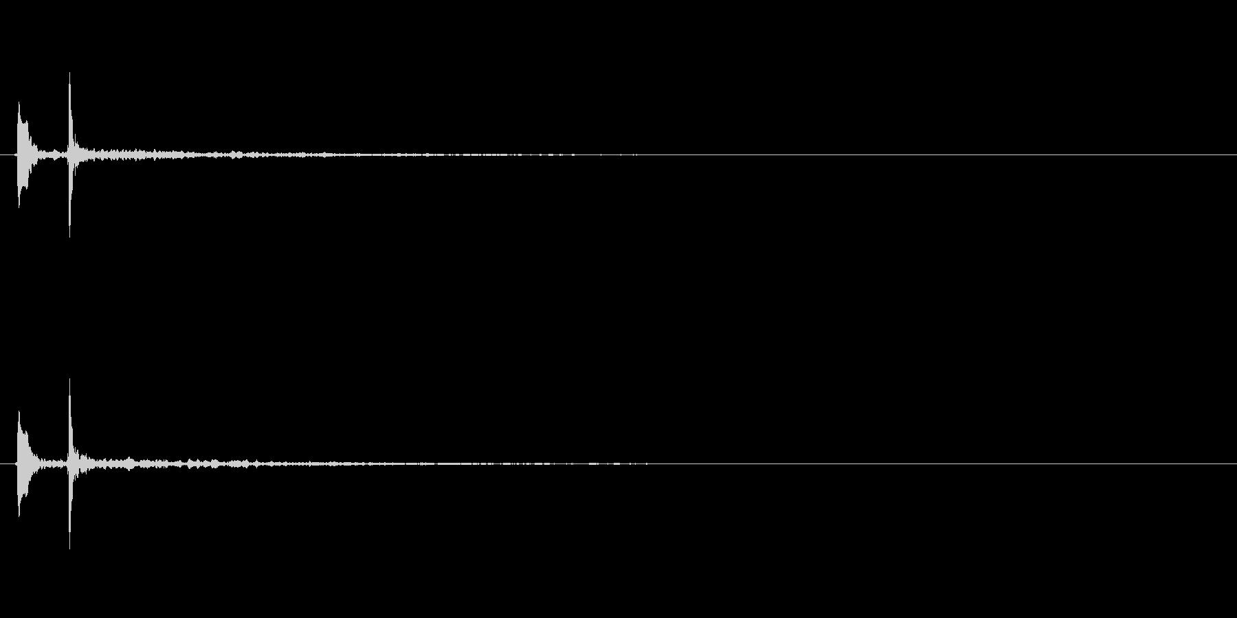 水滴 ポチャン3の未再生の波形