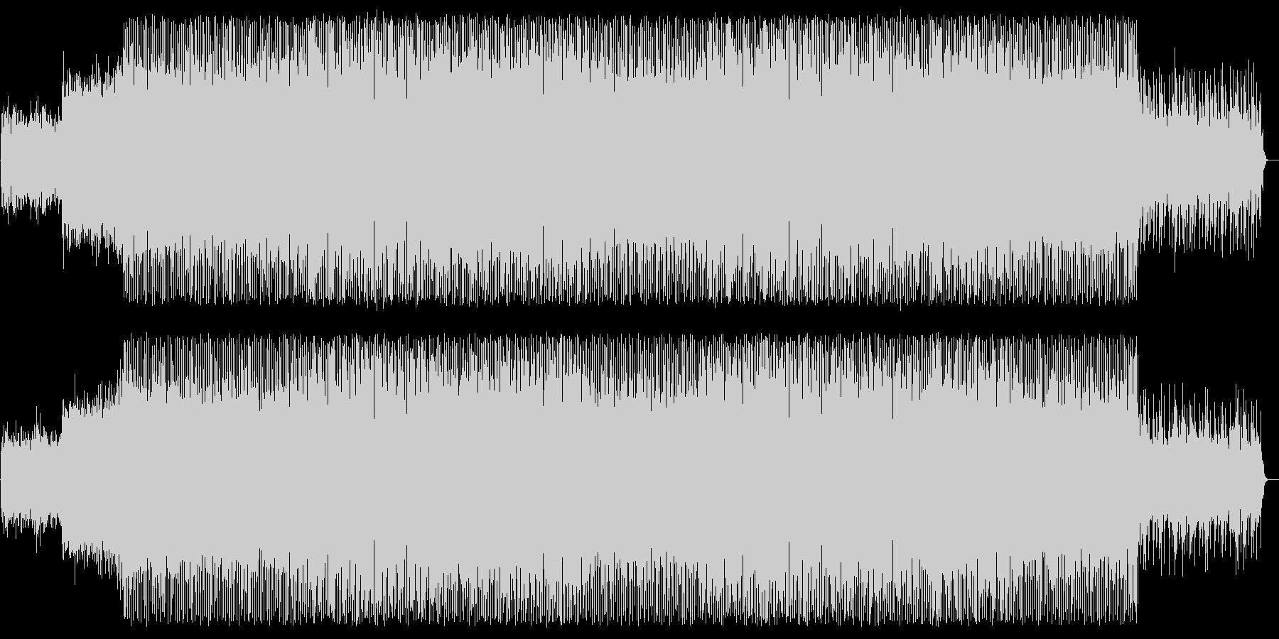 美しいピアノの旋律、ユーロ系テクノの未再生の波形