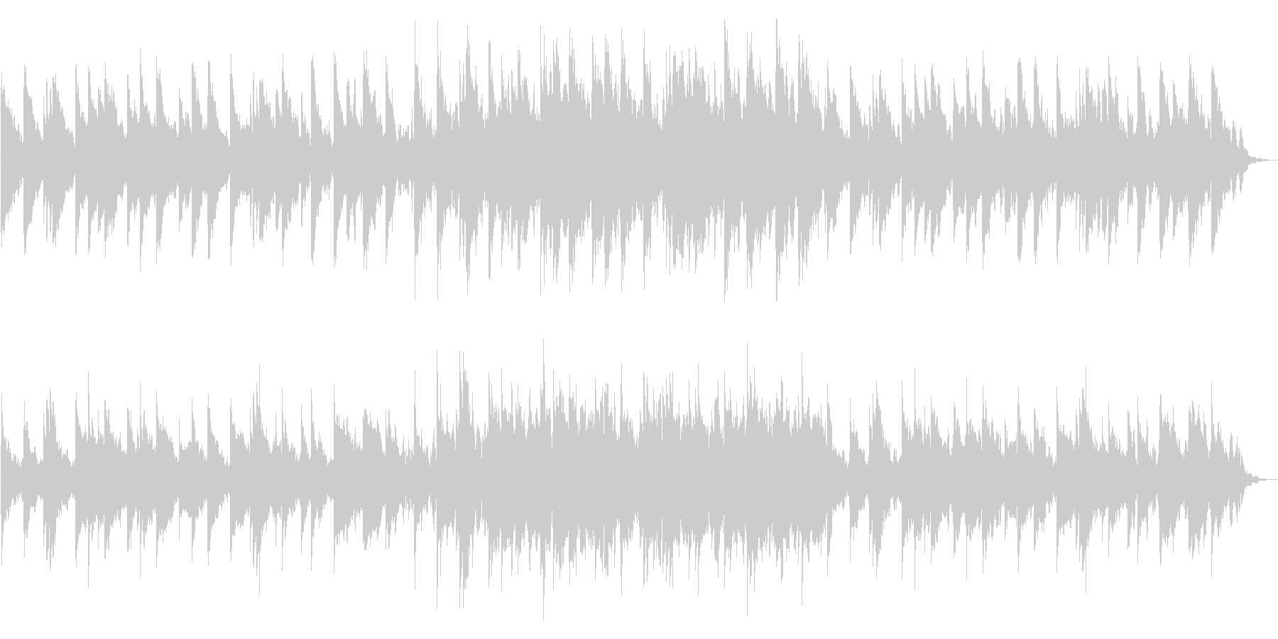 静かなピアノの旋律が印象的なバラードの未再生の波形