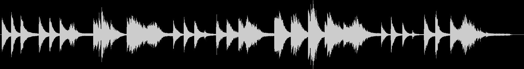 浮遊感、不思議なイメージのピアノソロの未再生の波形