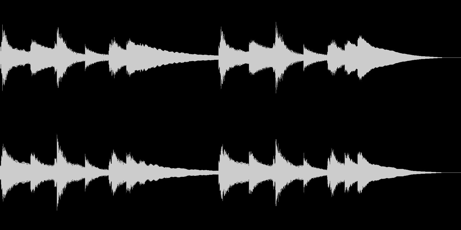 ゆったりとしたバラードBGMの未再生の波形