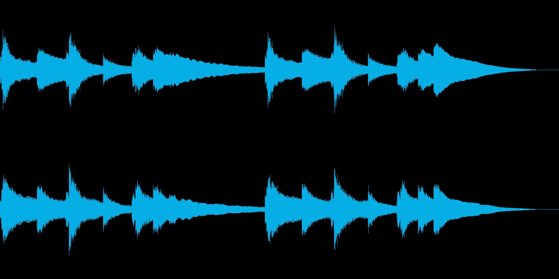 ゆったりとしたバラードBGMの再生済みの波形