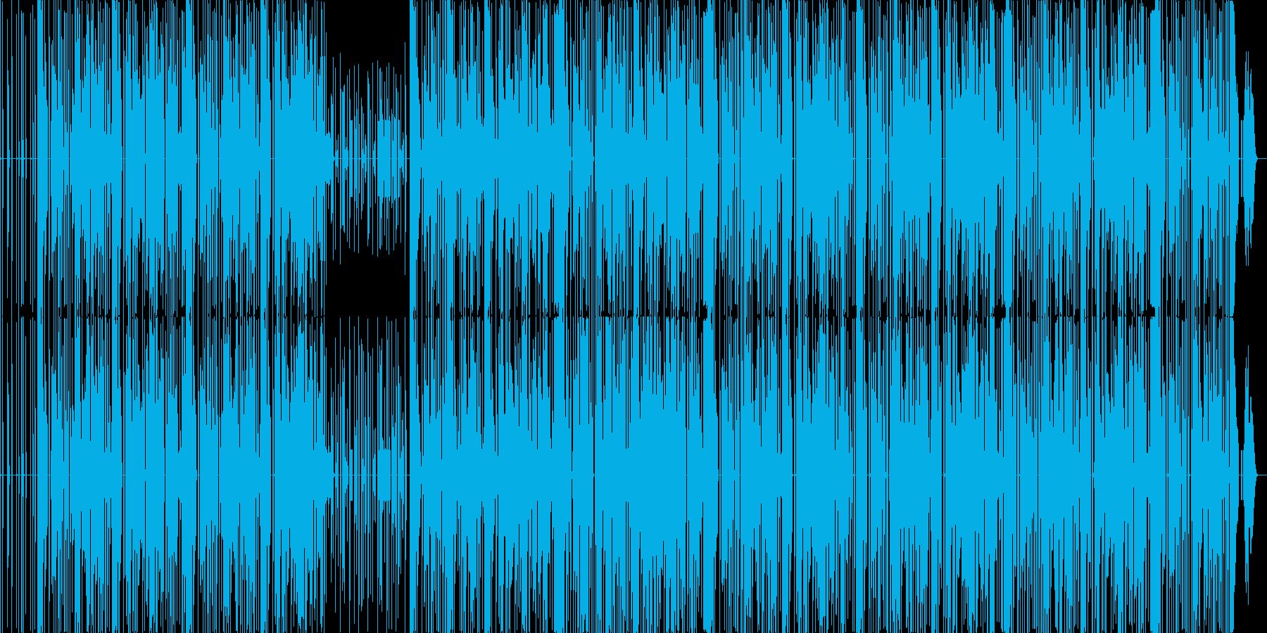 懐かしいパズル系ゲームサウンド風BGMの再生済みの波形