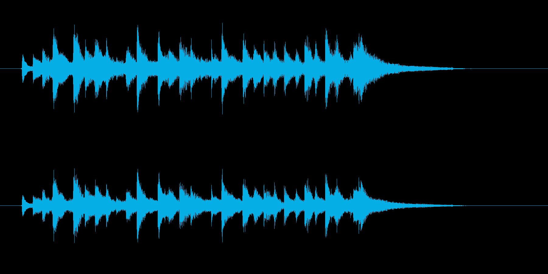 チャララチャンチャン(陽気なウクレレ)の再生済みの波形
