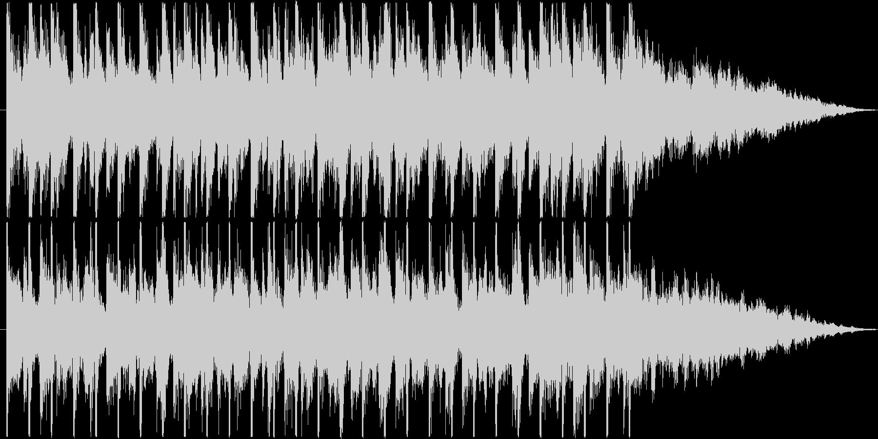 アップテンポな4つ打ちサウンドのジングルの未再生の波形