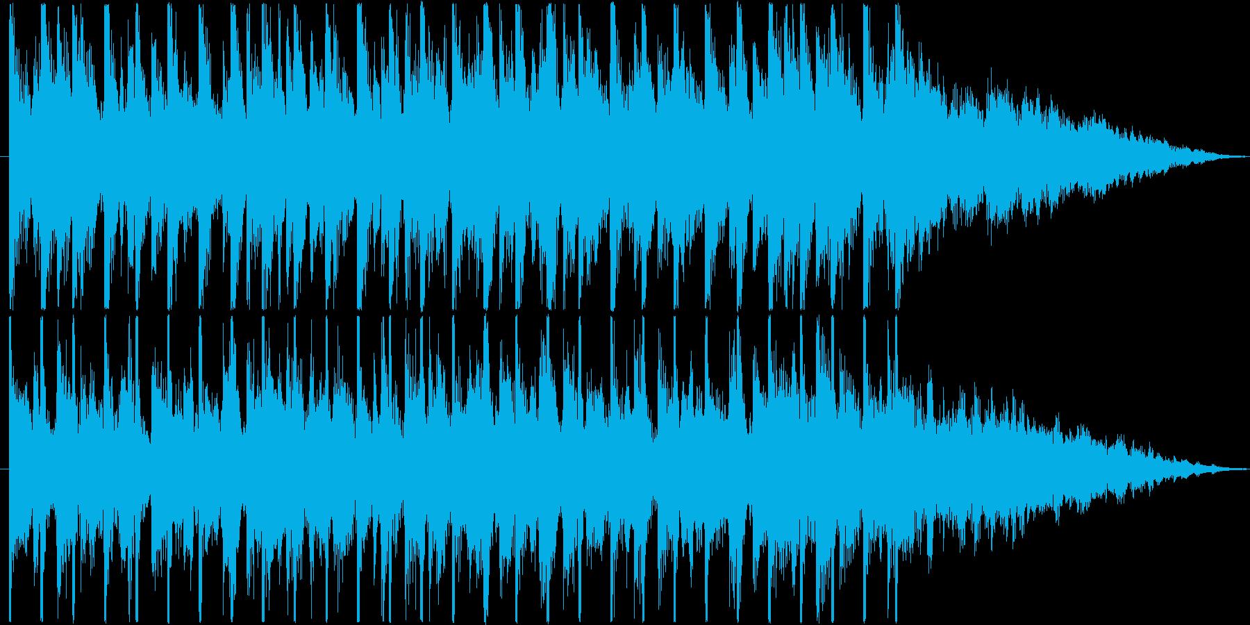 アップテンポな4つ打ちサウンドのジングルの再生済みの波形