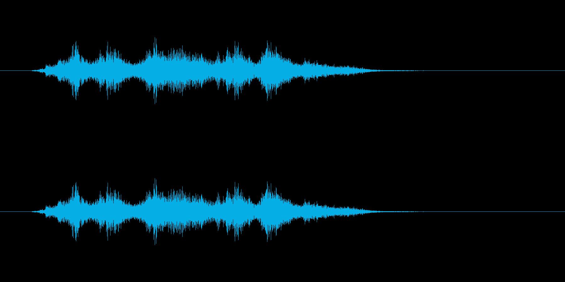 がらがらの再生済みの波形