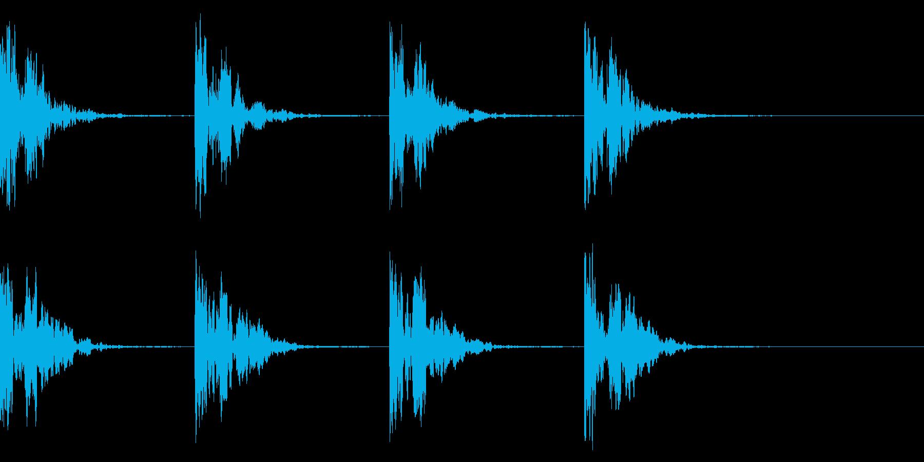 コーン・コーン・潜水艦のソナー音 エコーの再生済みの波形