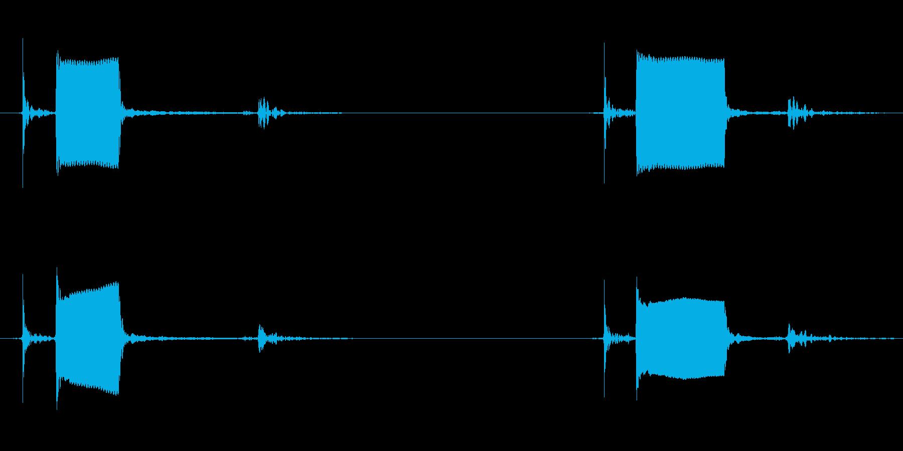 ピッ!ピッ!スイッチを押したときの音の再生済みの波形