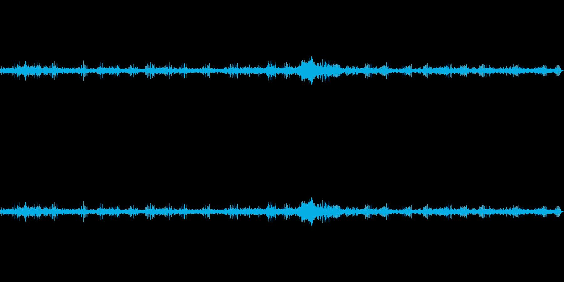 約2分半の長さの鳥の声環境音です。の再生済みの波形