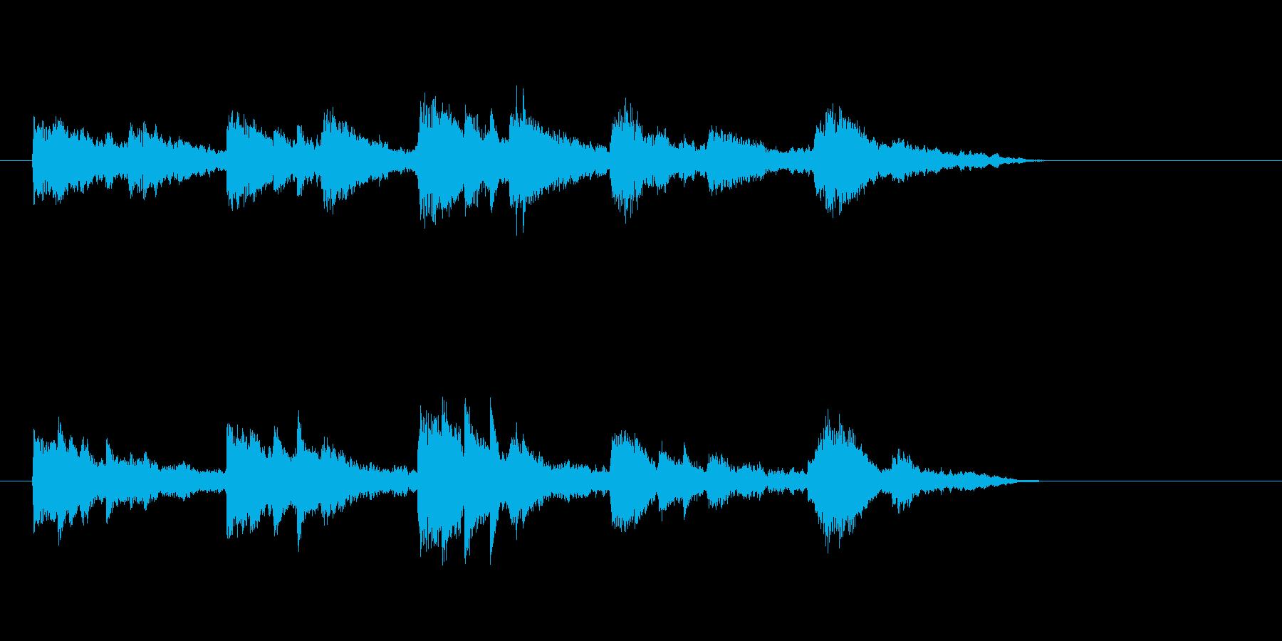 ジングル(ミステリアスな感じ)の再生済みの波形