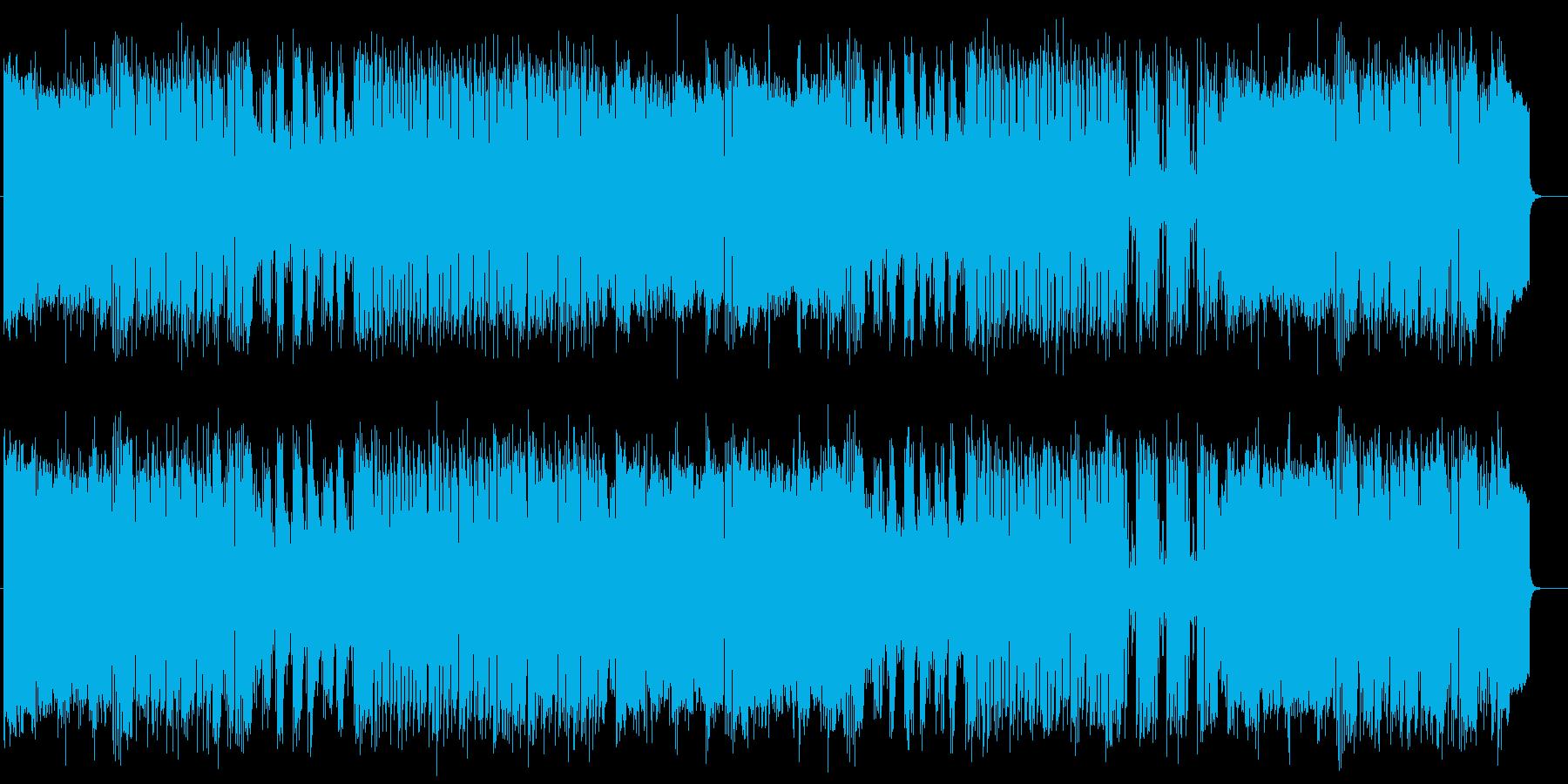 前進するようなスピード感があるポップスの再生済みの波形